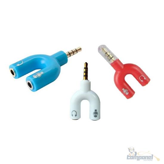 Adaptador Y Plug P2 X P3 Splitter Headset Fone Microfone